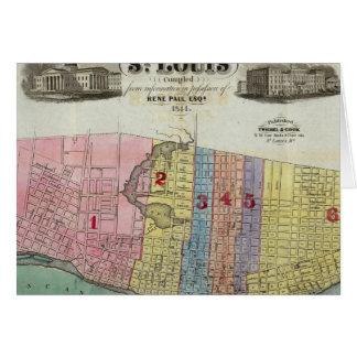 Mapa de la ciudad de St. Louis Tarjeton