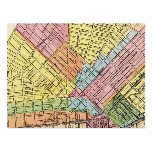 Mapa de la ciudad del búfalo postal