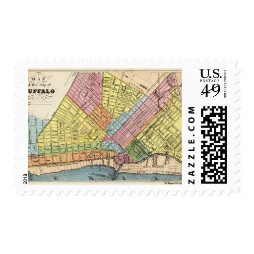 Mapa de la ciudad del búfalo sello
