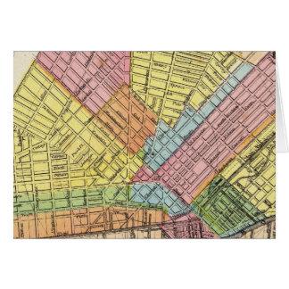 Mapa de la ciudad del búfalo tarjeta de felicitación
