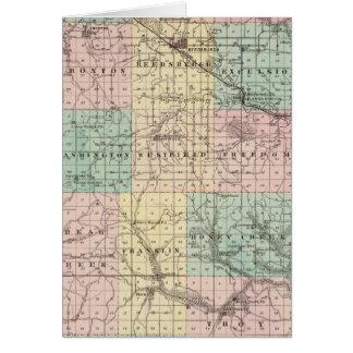 Mapa de la ciudad del condado de Sauk y de Kilbour Tarjetón
