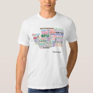 Mapa de la ciudad del estado de Washington Camisas