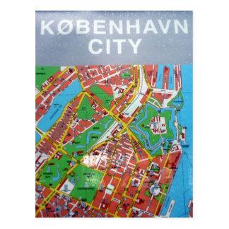mapa de la ciudad del københavn postales