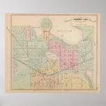 Mapa de la ciudad del pasto de Albert, Minnesota Póster