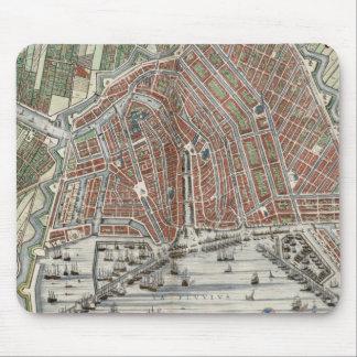 Mapa de la ciudad del vintage de Amsterdam Mousepad