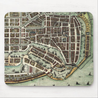 Mapa de la ciudad del vintage de Enkhuizen Alfombrillas De Raton