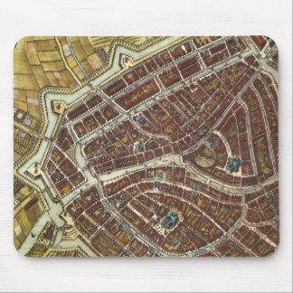 Mapa de la ciudad del vintage de Leiden Alfombrilla De Ratones