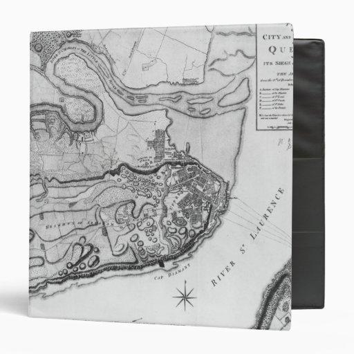 """Mapa de la ciudad y de los alrededores de Quebec Carpeta 1 1/2"""""""