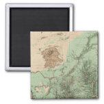 mapa de la clasificación de tierra 32C Imán Cuadrado