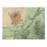 mapa de la clasificación de tierra 32C Postales