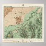 mapa de la clasificación de tierra 32C Póster