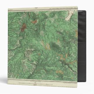 """Mapa de la clasificación de tierra de California Carpeta 1 1/2"""""""