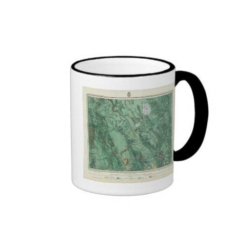 Mapa de la clasificación de tierra de Idaho Taza De Café