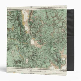 """Mapa de la clasificación de tierra de Nevada Carpeta 1 1/2"""""""