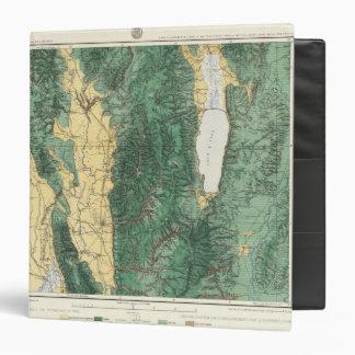 """Mapa de la clasificación de tierra de Utah del nor Carpeta 1 1/2"""""""