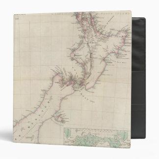 """Mapa de la colonia de Nueva Zelanda Carpeta 1 1/2"""""""
