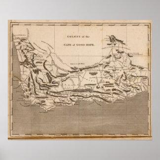 Mapa de la colonia del cabo por Arrowsmith Póster