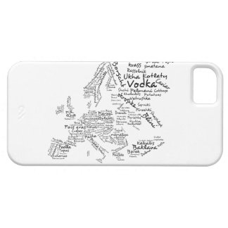 Mapa de la comida de Europa iPhone 5 Carcasa