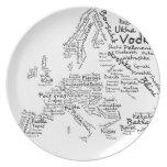 Mapa de la comida de Europa Platos De Comidas