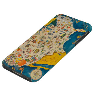 Mapa de la comida de los E.E.U.U. del vintage Funda Para iPhone 6 Plus Tough