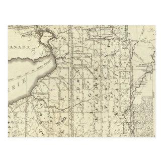 Mapa de la compra o de Geneseo del oeste de Morris Postales