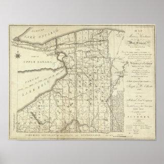 Mapa de la compra o de Geneseo del oeste de Morris Póster