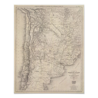 Mapa de la confederación de Argentina Impresiones
