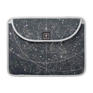 Mapa de la constelación del vintage fundas macbook pro