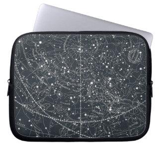 Mapa de la constelación del vintage manga portátil