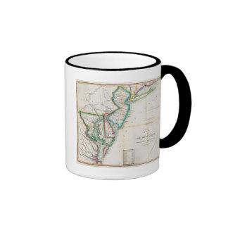 Mapa de la costa americana taza