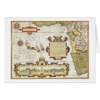 Mapa de la costa costa de Africa Occidental, 1596  Tarjeta De Felicitación
