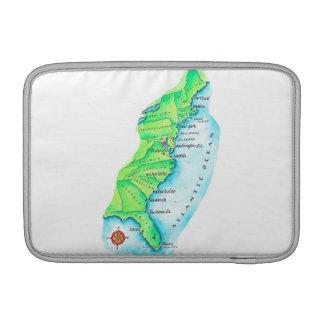 Mapa de la costa este americana fundas para macbook air