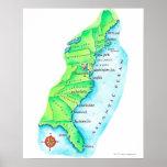 Mapa de la costa este americana posters