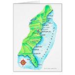 Mapa de la costa este americana tarjeta de felicitación