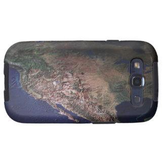 Mapa de la costa oeste los E.E.U.U. Samsung Galaxy S3 Funda