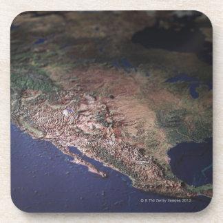 Mapa de la costa oeste los E.E.U.U. Posavaso
