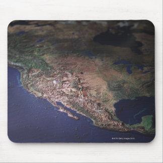 Mapa de la costa oeste los E.E.U.U. Tapetes De Ratones