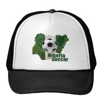 Mapa de la cultura del fútbol de Nigeria de los re Gorros Bordados