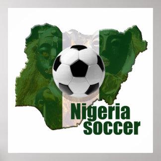 Mapa de la cultura del fútbol de Nigeria de los re Póster