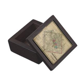 Mapa de la era de la guerra civil del distrito de  cajas de joyas de calidad