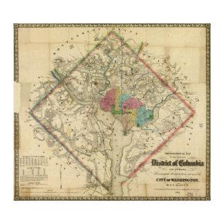 Mapa de la era de la guerra civil del distrito de  impresión en lona
