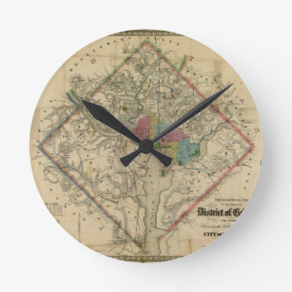 Mapa de la era de la guerra civil del distrito de  reloj de pared
