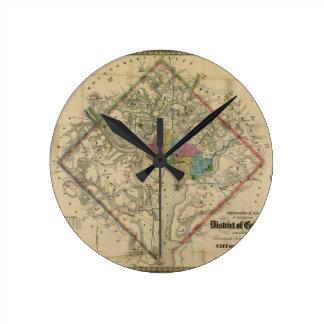 Mapa de la era de la guerra civil del distrito de  reloj redondo mediano