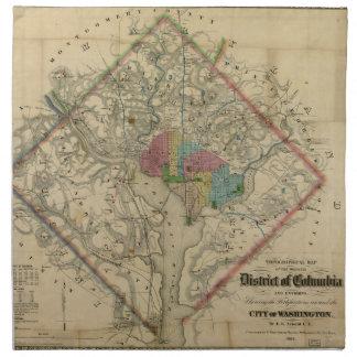 Mapa de la era de la guerra civil del distrito de  servilleta de papel