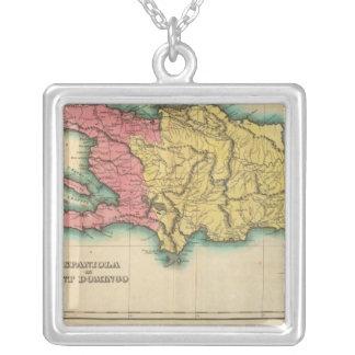 Mapa de La Española, o St Domingo Colgante Cuadrado