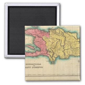 Mapa de La Española, o St Domingo Imán Cuadrado