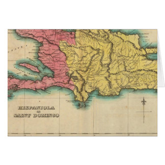 Mapa de La Española, o St Domingo Tarjeta De Felicitación
