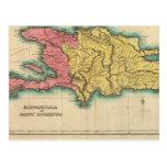 Mapa de La Española, o St Domingo Tarjetas Postales