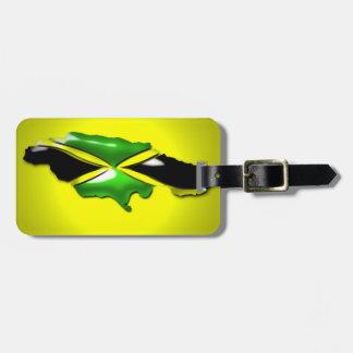 Mapa de la etiqueta del equipaje de Jamaica Etiquetas Maleta