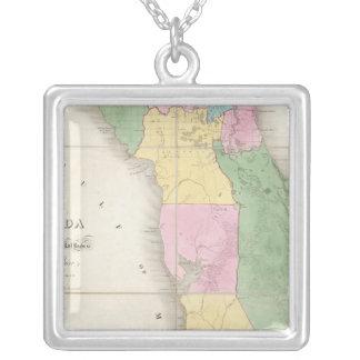 Mapa de la Florida 2 Colgante Cuadrado